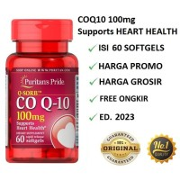 Puritan Pride COQ10 100 mg, Q-SORB COQ 10 Kesehatan Jantung