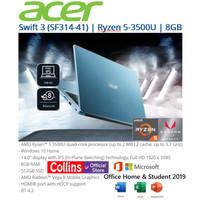 """ACER SWIFT 3 SF314-41 - RYZEN 5 3500U 8GB 512GB VEGA 8 14"""" FHD OHS W10"""