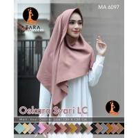 Jilbab/Hijab Voal Laser SYARI/Segiempat polos jumbo/Oskara Syari Azara