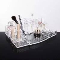 Cermin Makeup Acrylic - Tempat Makeup Serbaguna - Rak Makeup