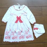 Fashion Pakaian Dress Gamis Muslim Jilbab Putih Anak Bayi Cewek 1-2th
