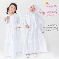 Gamis Putih Anak Seragam Manasik Anak Jilbab Bandana
