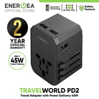 Wall Charger Universal Travelworld PD2 45W Energea