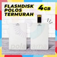 Flashdisk Kartu Polos 4GB - Flash Disk 4GB - Flashdisk Custom Printing