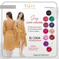 Tally Sexy Satin Lingerie BJ 2904 (1set dengan kimono)