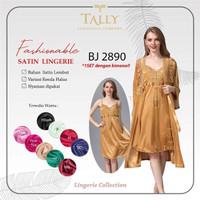 Tally Fashionable Satin Lingerie BJ 2890 (1 set dengan kimono)