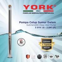 YORK 3SYK 2.5 / 11 P 1/2 hp kabel pendek submersible pompa air satelit
