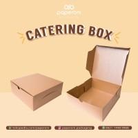 Kotak/Dus Katering Makanan Bahan Kertas ECO Kraft/Paper Catering Box