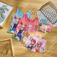 T963 Kaos Dalam Singlet Anak & Celana Dalam Anak Boxer Frozen
