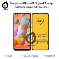 Tempered Glass 6D 9D Samsung A11 / M11 Full Cover Ambigo