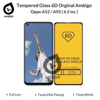 Tempered Glass 6D 9D Oppo A52 / A92 Full Cover Color Ambigo