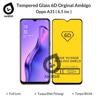 Tempered Glass 6D 9D Oppo A31 Full Cover Color Ambigo