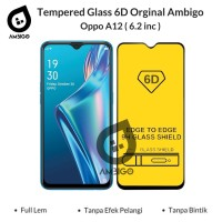 Tempered Glass 6D 9D Oppo A12 Full Glue Full Cover Color Ambigo