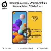 Tempered Glass 6D 9D Samsung A21s Full Cover Ambigo