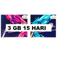 VOUCHER PAKET DATA AXIS 3 GB 15 HARI ( INTERNET 3GB 15HARI NASIONAL )