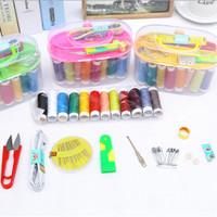 Peralatan Jahit Sewing Box Kit Set Isi 12 Roll Alat Jahit Set Box