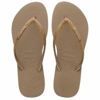 Havaianas Slim Glitter Fc 3581-Rose Gold - Sandal Wanita