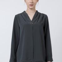 The Executive V-Neck Long Sleeves Blouse 5-BLWKEY120D132 Olive
