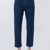 The Executive Basic Mom Jeans 5-LPDKEY120D037 Med Blue