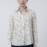 The Executive Floral Long Sleeves Shirt 5-BLWKEY120D001 Off White