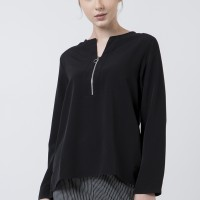 The Executive Basic Long Sleeves Blouse 5-BLWKEY120D012 Black