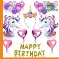 Unicorn Balloons Set Birthday Party Supplies For Kids Miami