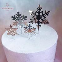 Mgg 4Pcs Topper Kue Desain Christmas untuk Dekorasi Cupcake