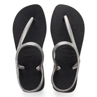 Havaianas Flash Urban 2976-Black/Silver - Sandal Wanita