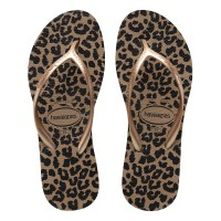 Havaianas High Light Ii 8548-Rose Gold/Metallic Gold - Sandal Wanita