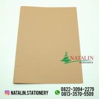 Sampul Buku Tulis Coklat Polos ( size Kwarto / isi 20 ) - Sekolah Anak