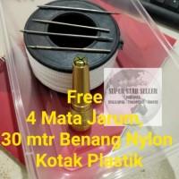 Jarum Jahit Sol Sepatu Tas Paket Lengkap Siap Pakai - free nylon&kotak
