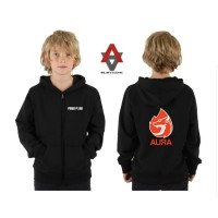 jaket hoodie zipper anak aura free fire - sweater anak freefire