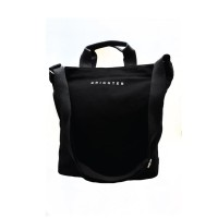 Brighter Canvas Zipper Tote Bag (Black)