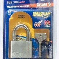 AMERICAN SECURE GEMBOK ANTI MALING 50MM SHORT TERMURAH - 50 MM