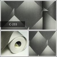 Wallpaper Sale Ready Hitam Modern 53CM X 10M