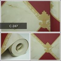 Thumbnail Wallpaper Sale Ready Modern Merah Krem 53CM X 10M