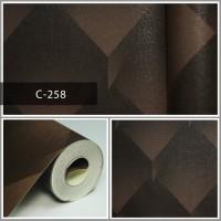 Wallpaper Sale Ready Coklat Modern 53CM X 10M