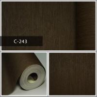 Wallpaper Sale Ready Coklat Polos 53CM X 10M