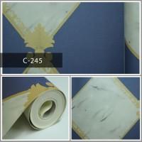 Wallpaper Sale Ready Modern Biru Krem 53CM X 10M