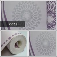 Wallpaper Sale Ready Salur Modern Ungu 53CM X 10M