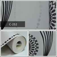 Wallpaper Sale Ready Salur Modern Hitam 53CM X 10M