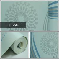 Wallpaper Sale Ready Salur Modern Biru 53CM X 10M