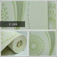 Wallpaper Sale Ready Salur Modern Hijau 53CM X 10M