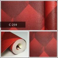 Wallpaper Sale Ready Merah Modern 53CM X 10M