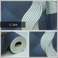 Wallpaper Sale Ready Modern Salur Putih Biru 53CM X 10M