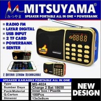 Radio Portable Mitsuyama MS-4024 USB TF Card + Senter bisa Powerbank
