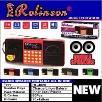 Speaker Radio Rolinson RL-4028 USB Memory Tf Card Double Speaker Mini