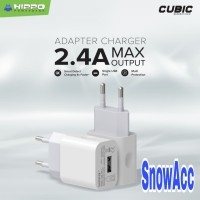 Hippo Cubic 2 Adaptor Charger 2.4A 1 Usb Port Smart Detect Charging