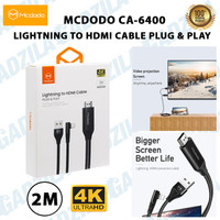 MCDODO CA-6400 LIGHTNING TO HDMI CABLE PLUG & PLAY 4K 2M