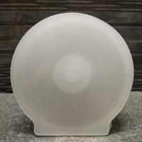 Tempat CD / DVD Case Kerang Casing Oval Bulat Plastik